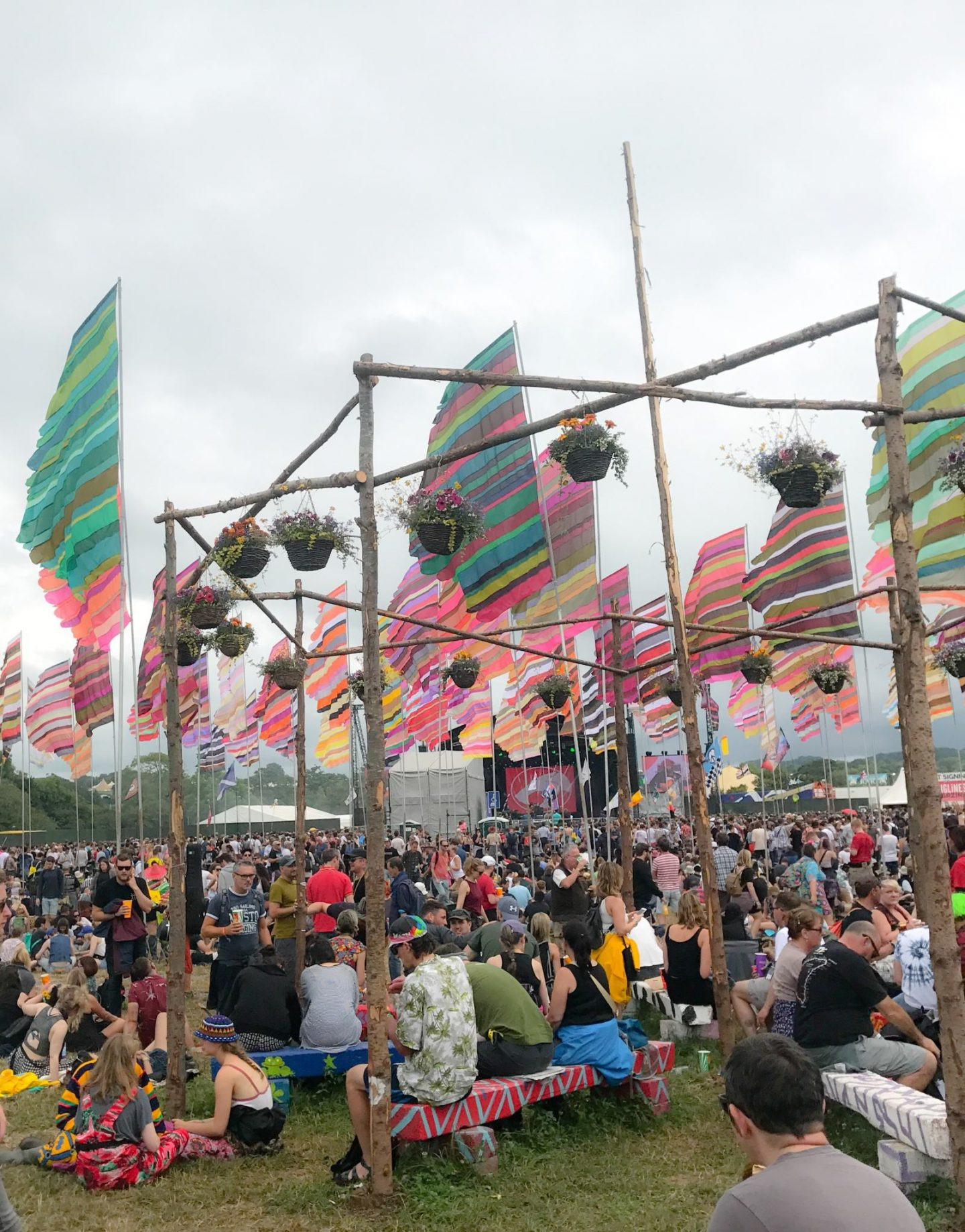Glastonbury Festival flags