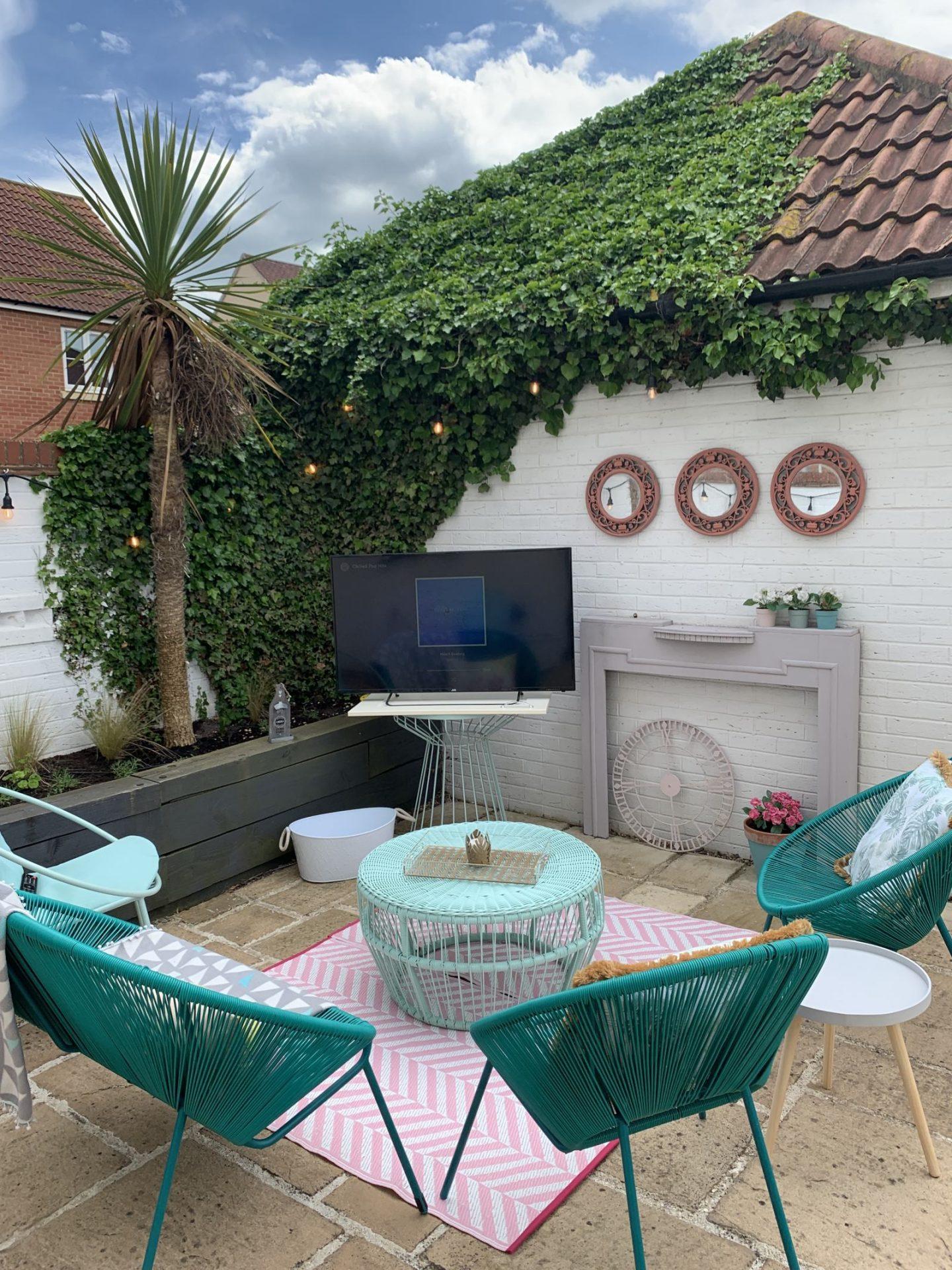 TV in the garden