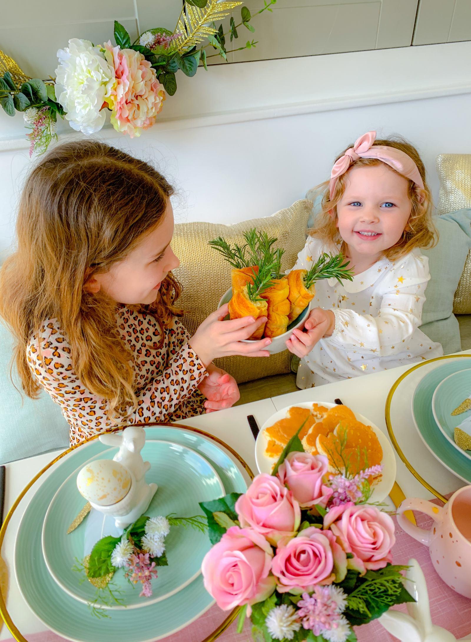 Oh So Kel pastel Easter Breakfast Table