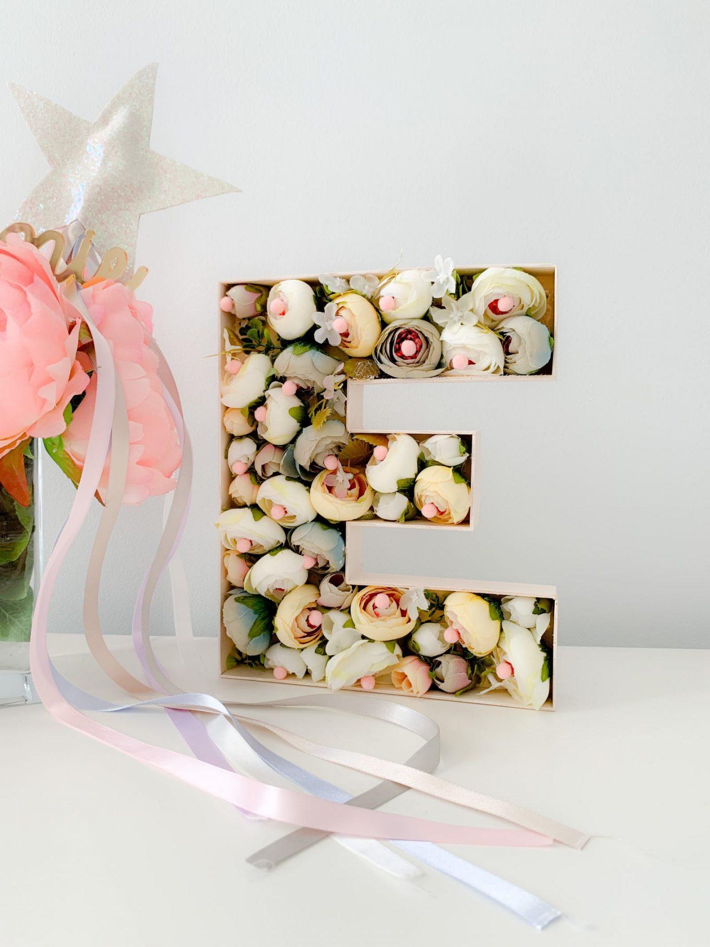 3D flower monogram letter