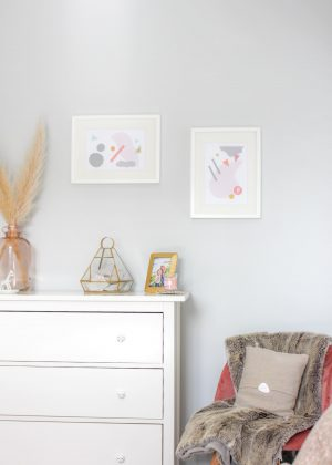 DIY GEOMETRIC ABSTRACT ART