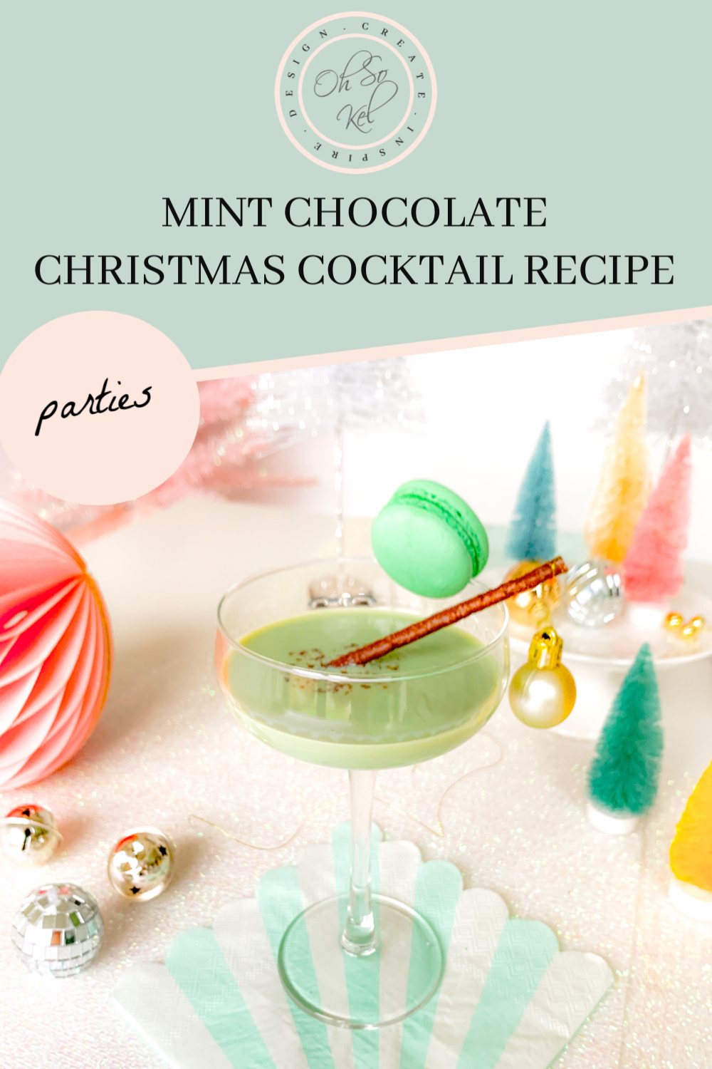 Mint chocolate Christmas cocktail