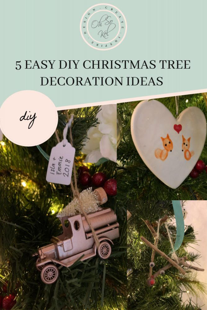 5 easy DIY Christmas tree decoration ideas
