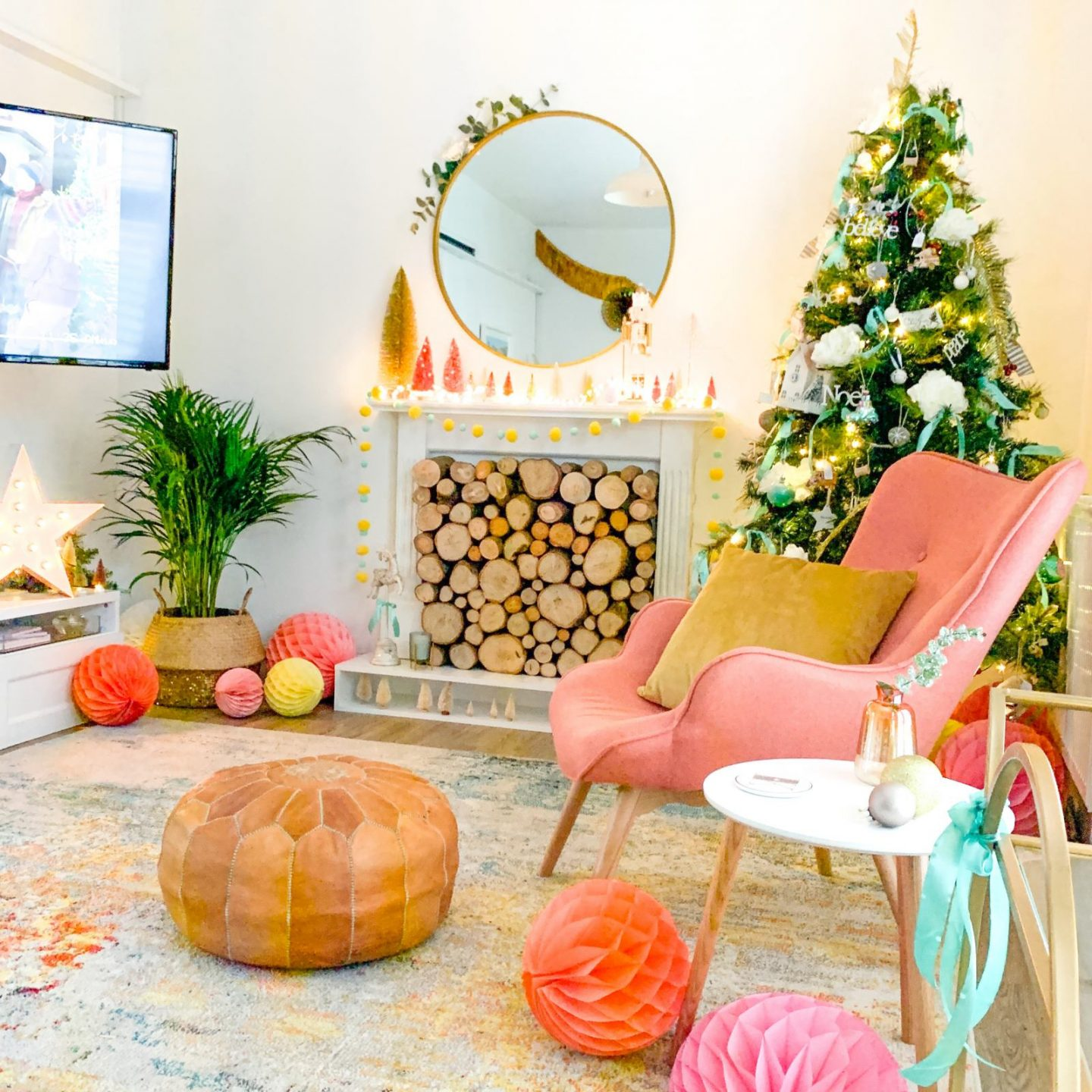 Before & after: cosy Christmas family room makeover