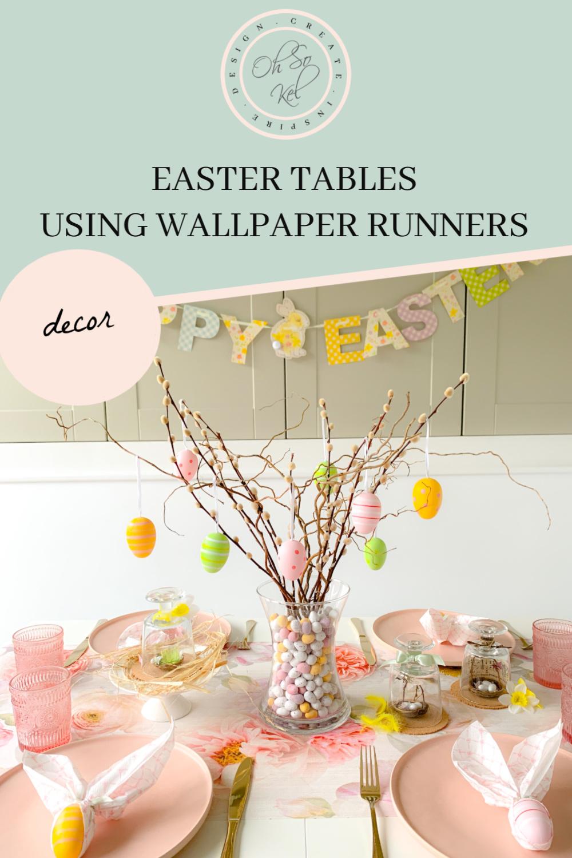 WALLPAPER RUNNER EASTER TABLES