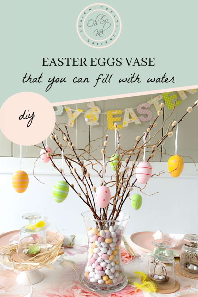 EASTER EGGS VASE DIY that you can fill with water!