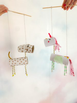 DIY loo roll animal puppets