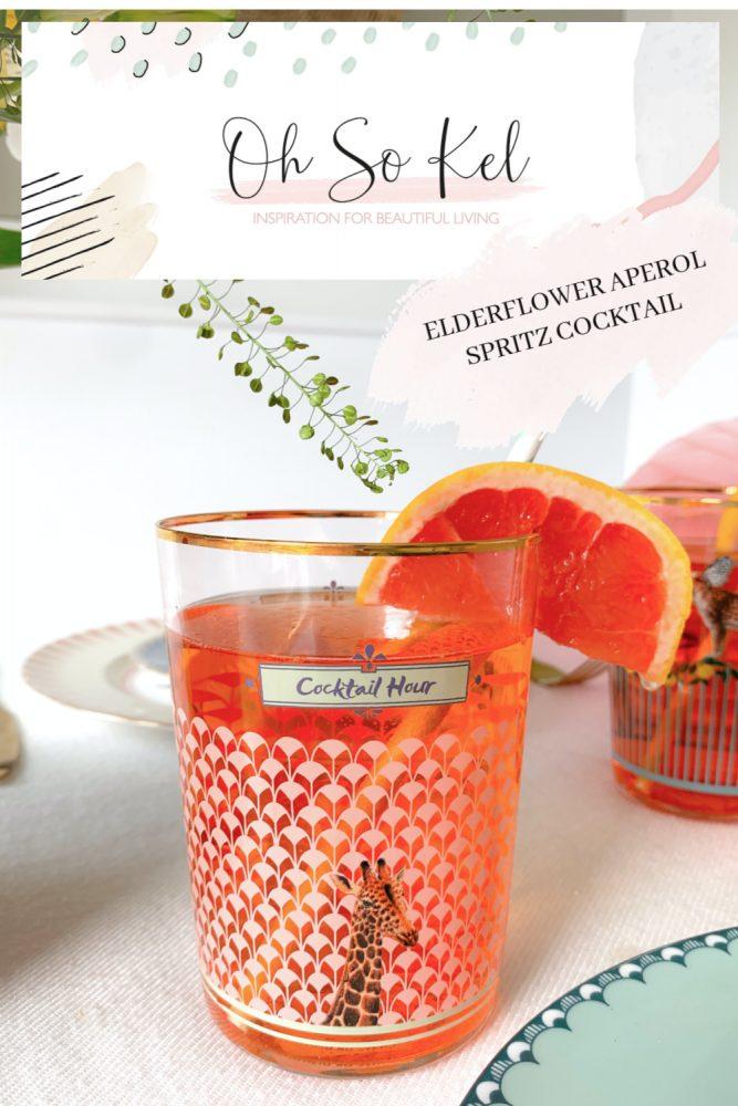 Elderflower Aperol Spritz Cocktail