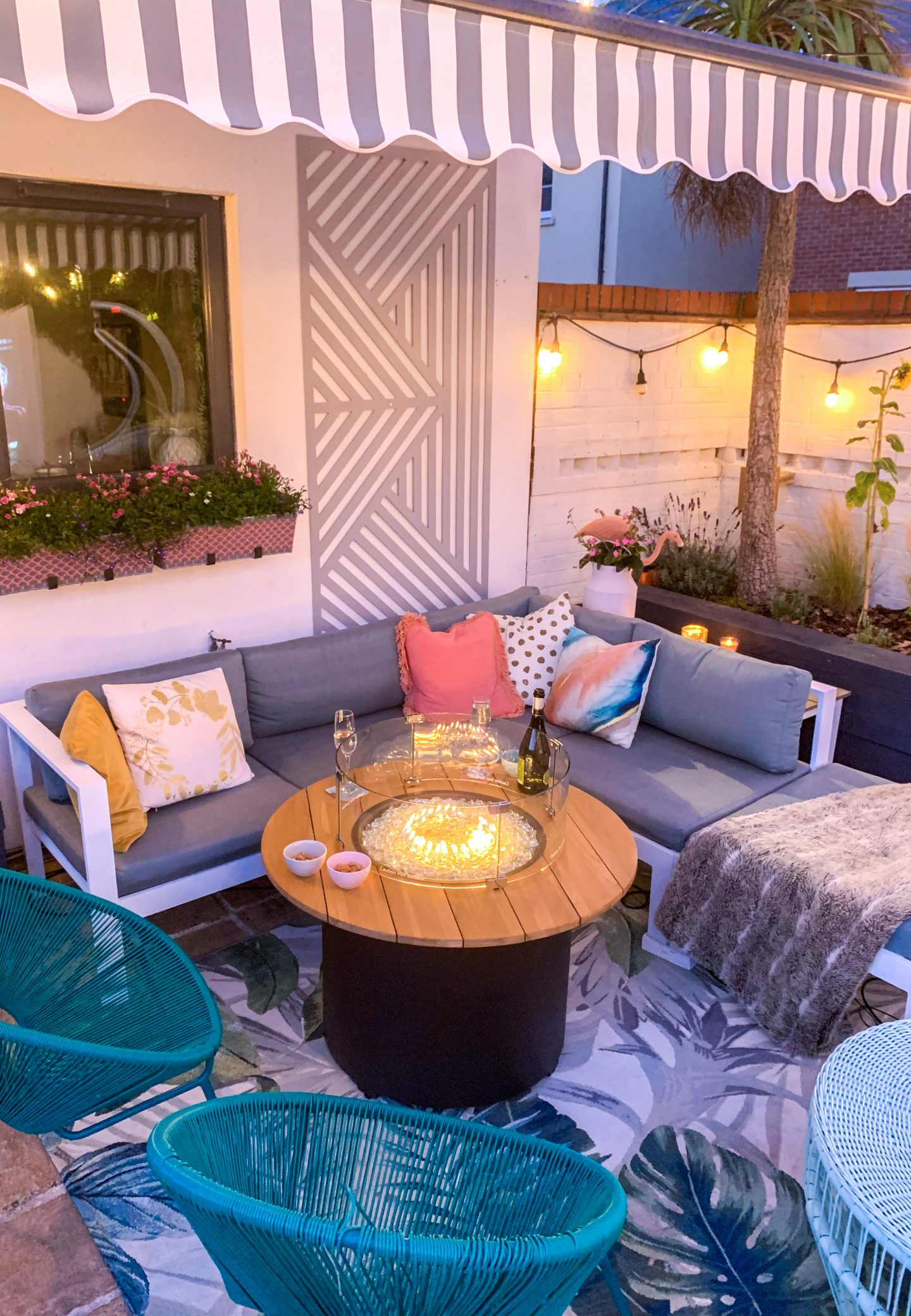 GARDEN MAKEOVER WITH OUTBACK GAS FIRE PIT