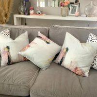 OSK Brushstrokes Velvety Cushion Cover