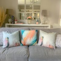 OSK Brushstrokes Velvety Cushion Cover