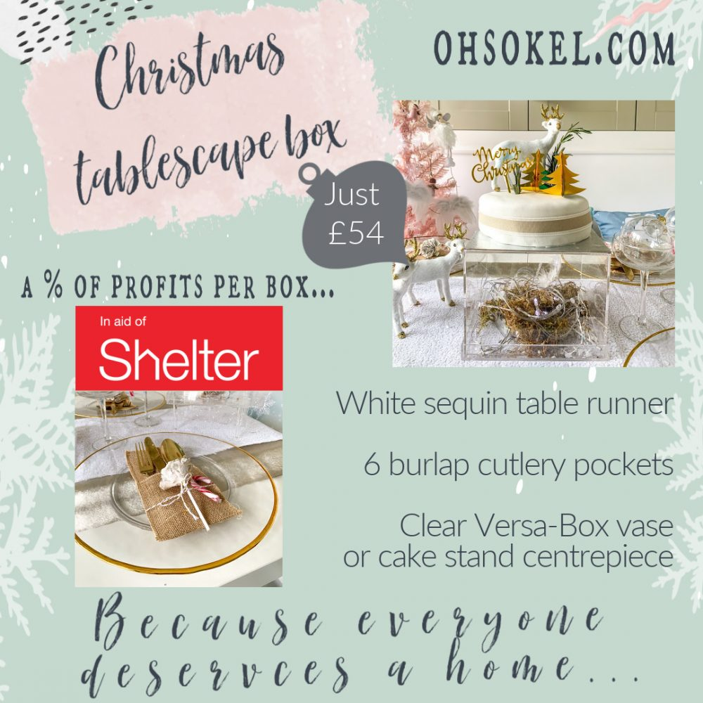 CHRISTMAS TABLESCAPE BOX IN AID OF SHELTER