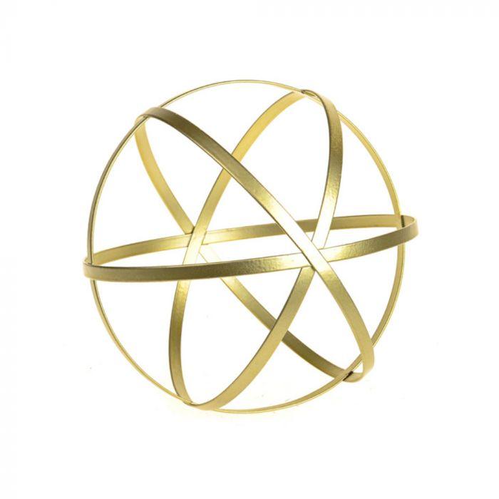 DECORATIVE METAL GOLD ORB