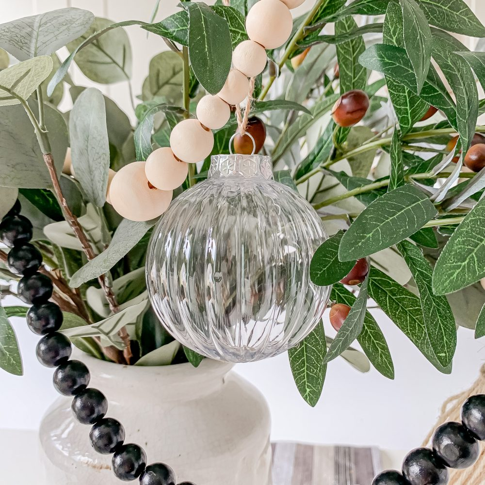 SET OF 5 CLEAR SHATTERPROOF FILLABLE RIBBED BAUBLES