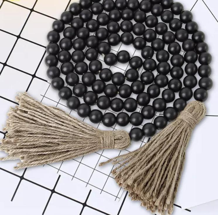 BOHO WOODEN STYLING BEADS – BLACK